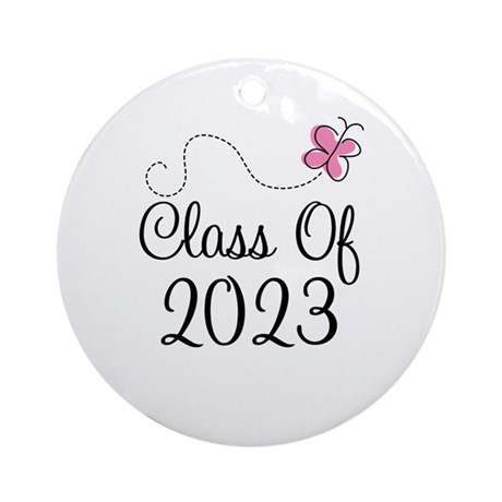 Sweet Pink Class Of 2023 Ornament (Round)