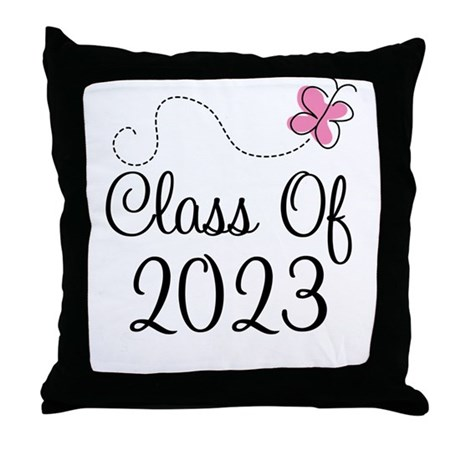 Sweet Pink Class Of 2023 Throw Pillow