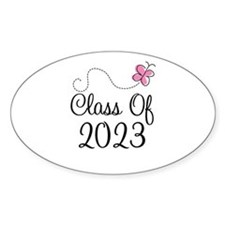 Sweet Pink Class Of 2023 Oval Sticker (10 pk)