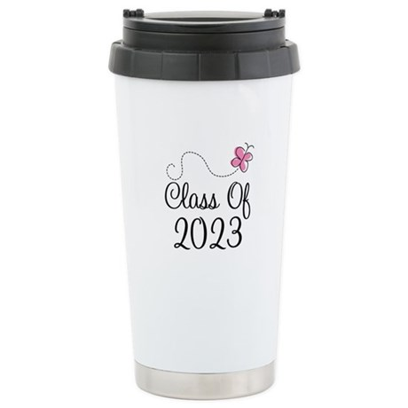 Sweet Pink Class Of 2023 Stainless Steel Travel Mu