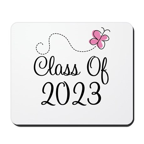 Sweet Pink Class Of 2023 Mousepad