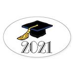 Classic 2021 Grad Oval Sticker