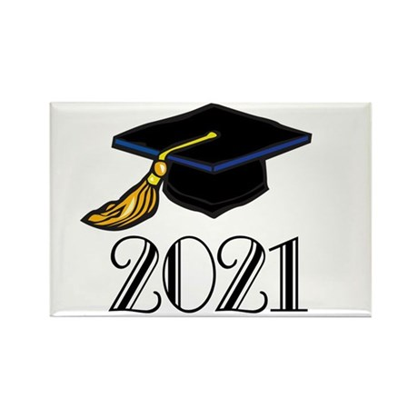 Classic 2021 Grad Rectangle Magnet