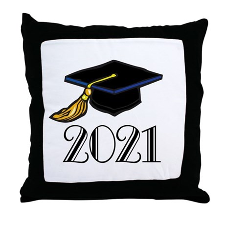 Classic 2021 Grad Throw Pillow