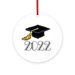 2022 Grad Hat Ornament (Round)