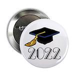 "2022 Grad Hat 2.25"" Button"