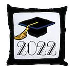 2022 Grad Hat Throw Pillow