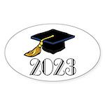 2023 Grad Hat Oval Sticker (10 pk)