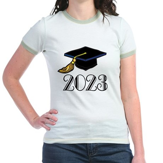 2023 Grad Hat Jr. Ringer T-Shirt