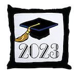 2023 Grad Hat Throw Pillow