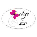 Sweet Class Of 2021 Oval Sticker