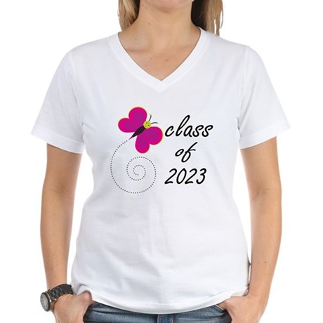 Fun Class Of 2023 Women's V-Neck T-Shirt