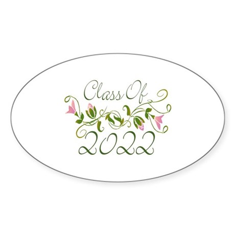 Lovely Class Of 2022 Oval Sticker