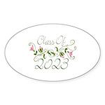 Flowered Class Of 2023 Oval Sticker