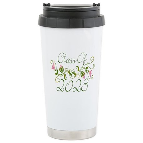 Flowered Class Of 2023 Stainless Steel Travel Mug