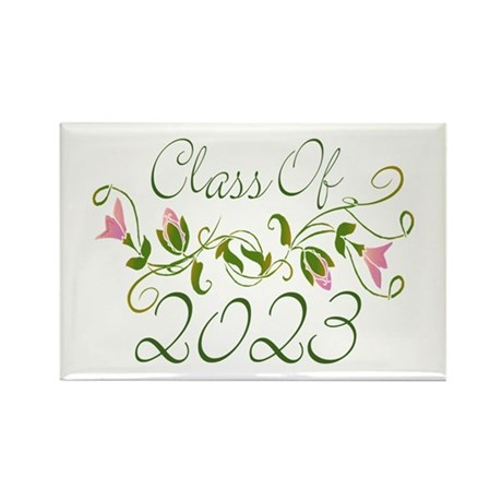Flowered Class Of 2023 Rectangle Magnet