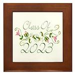 Flowered Class Of 2023 Framed Tile