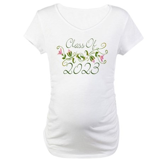 Flowered Class Of 2023 Maternity T-Shirt