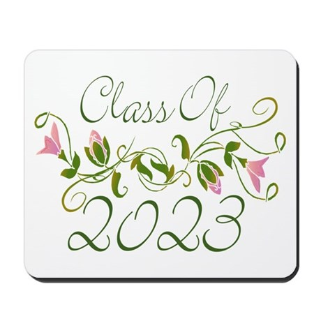 Flowered Class Of 2023 Mousepad