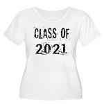 Grunge Class Of 2021 Women's Plus Size Scoop Neck