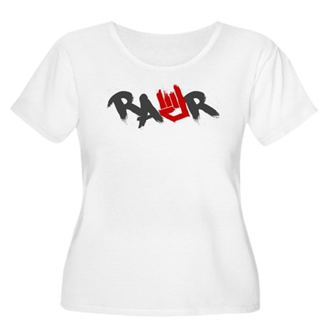 Rawr Logo Women's Plus Size Scoop Neck T-Shirt