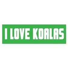"""I Love Koalas"" Bumper Car Sticker"