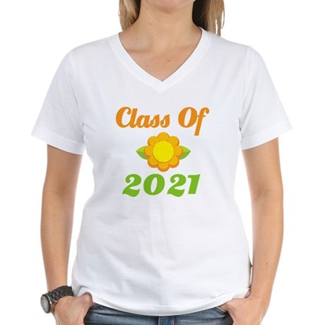 Bright Class Of 2021 Women's V-Neck T-Shirt