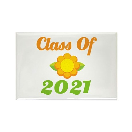 Bright Class Of 2021 Rectangle Magnet