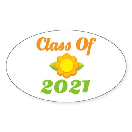 Bright Class Of 2021 Oval Sticker