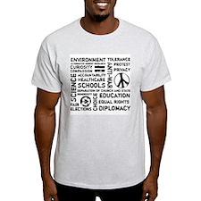 Liberal Values 2 Ash Grey T-Shirt