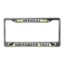 Official Schnauzer Taxi License Plate Frame