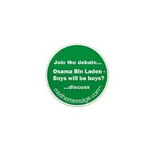 Bin Laden Mini Button