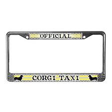 Official Corgi Taxi License Plate Frame (Pembroke)