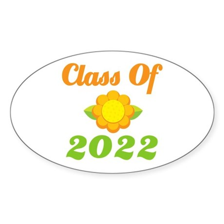 Grad Class Of 2022 Oval Sticker