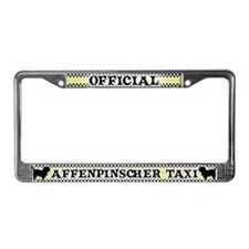 Official AffenpinscherTaxi License Plate Frame