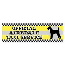 Official Airedale Taxi Bumper Bumper Sticker