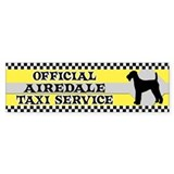 Official Airedale Taxi Bumper D&#233;calcomanies auto