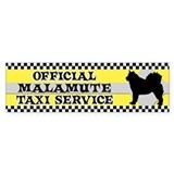 Official Malamute Taxi Bumper Car Sticker