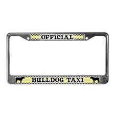 Official BulldogTaxi License Plate Frame American