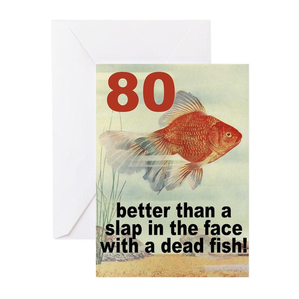Funny 80th Birthday Gifts Fish Theme MEGA CELEBRATIONS