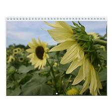 Unique Sunflowers flowers Wall Calendar
