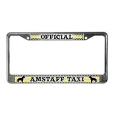 Official AmStaff Taxi License Plate Frame