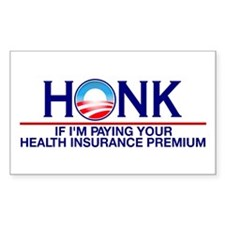 Honk Health Insurance Rectangle Decal