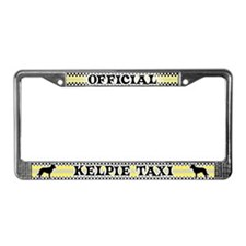 Official Kelpie Taxi License Plate Frame