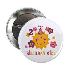 "Sun 2nd Birthday 2.25"" Button"