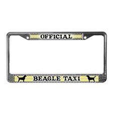 Official Beagle Taxi License Plate Frame