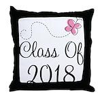 Sweet Pink Class Of 2018 Throw Pillow