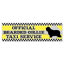 Official Bearded Collie Taxi Bumper Car Sticker