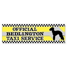 Official Bedlington Taxi Bumper Bumper Sticker