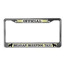 Official Belgian Sheepdog Taxi License Plate Frame